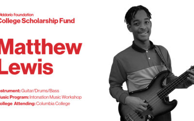 Intonation Graduate Matthew Lewis receives D'Addario Foundation Scholarship